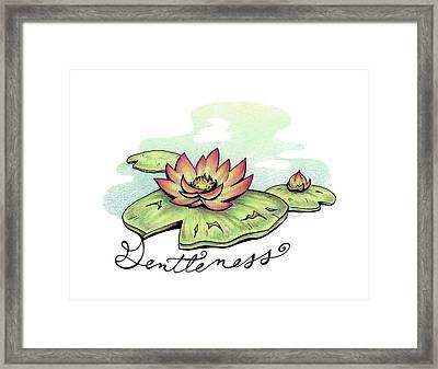 Fruit Of The Spirit Series 2 Gentleness Framed Print