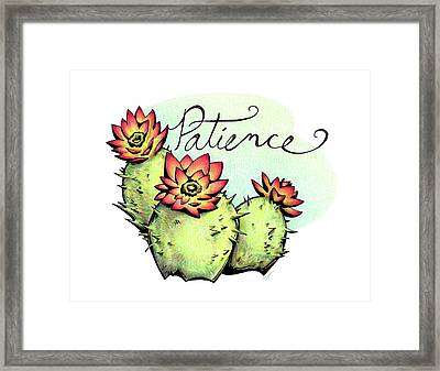 Fruit Of The Spirit Series 2 Patience Framed Print