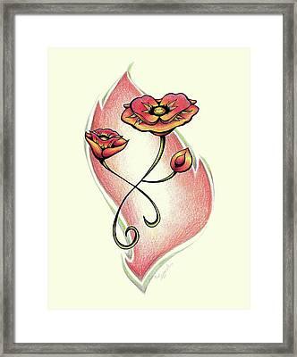 Vibrant Flower 1 Poppy Framed Print