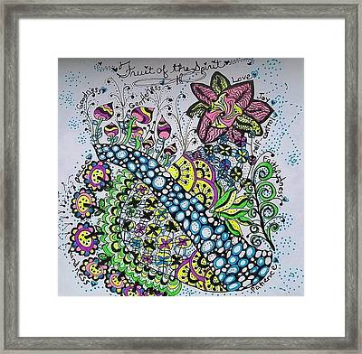 Fruit Of The Spirit Framed Print by Carole Brecht