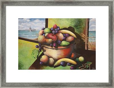 Fruit On The Beach Framed Print