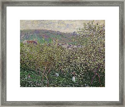Fruit Pickers Framed Print by Claude Monet