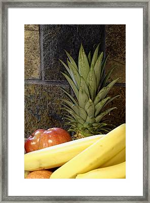Fruit Pile Framed Print
