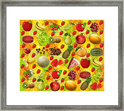 Fruit Salad Splash Framed Print