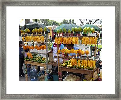 Fruit Stand Antigua  Guatemala Framed Print by Kurt Van Wagner