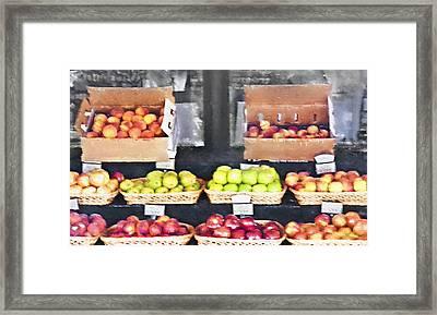 Fruit Stand - Carmel California Framed Print by Steve Ohlsen