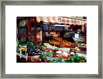 Fruit Stand Framed Print by Warren Home Decor