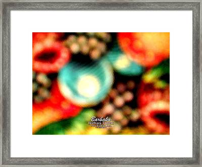Framed Print featuring the photograph Fruit Sticker by Barbara Tristan