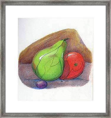Fruit Still 34 Framed Print by Loretta Nash