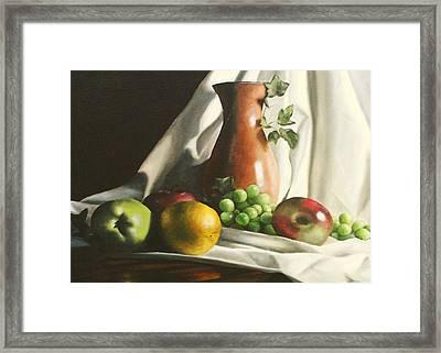 Fruit Still Life Framed Print by Lori Keilwitz