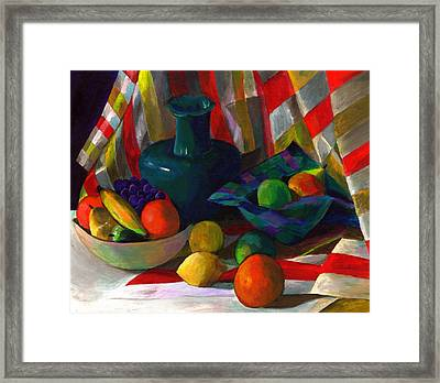 Fruit Still Life Framed Print by Peter Shor