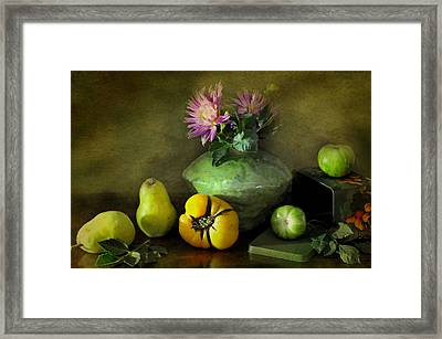 Fruit Tin Framed Print by Diana Angstadt