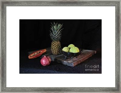 Fruit With Kryptonite Framed Print by Joe Jake Pratt