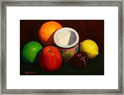 Fruit With Small Planter Framed Print