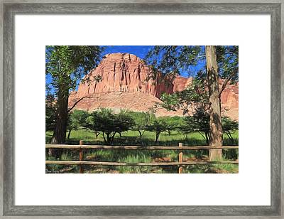Fruita Orchards - Capital Reef Framed Print by Donna Kennedy