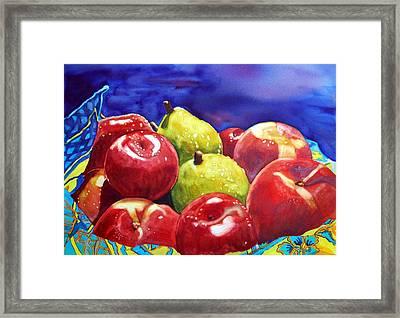 Fruitfully Yours Framed Print by Gerald Carpenter
