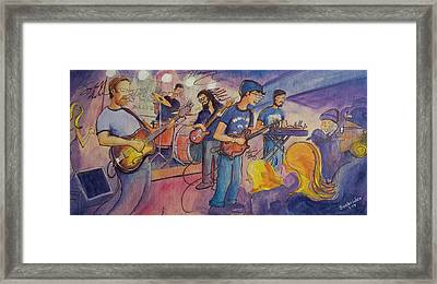 Framed Print featuring the painting Fruition At The Barkley Ballroom by David Sockrider