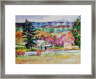 Framed Print featuring the painting Fruitlands IIi by Priti Lathia