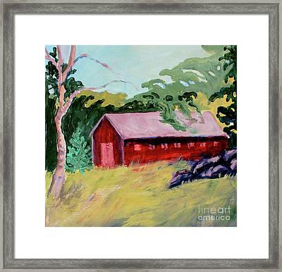 Framed Print featuring the painting Fruitlands Iv by Priti Lathia