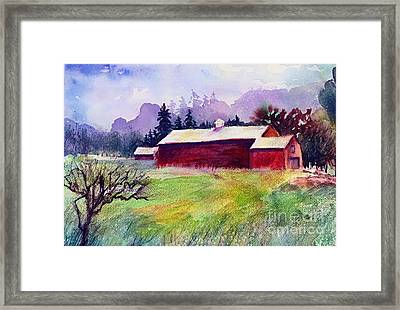 Framed Print featuring the painting Fruitlands Museum II by Priti Lathia