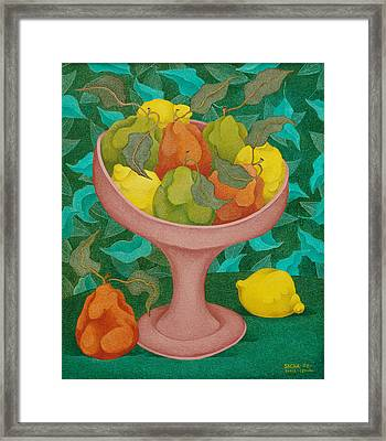 Fruits   2008 Framed Print by S A C H A -  Circulism Technique