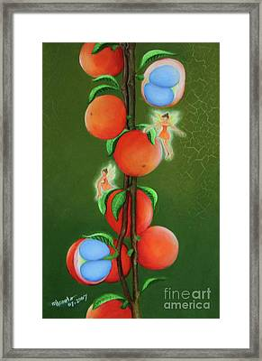 Fruits And Fairies Framed Print