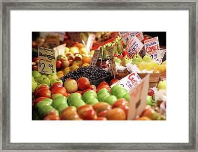 Fruits And Vegetables Framed Print by Todd Klassy