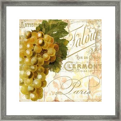 Fruits D'or Golden Grapes Framed Print