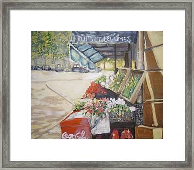 Fruits Et Legumes Framed Print by Julie Todd-Cundiff