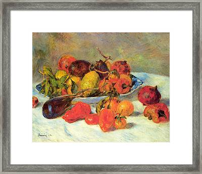 Fruits From The Midi Framed Print by Pierre Auguste Renoir