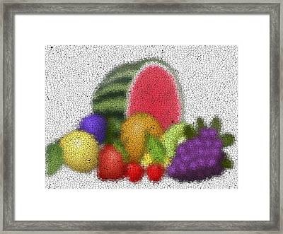 Fruits Graffiti Mosaic Framed Print