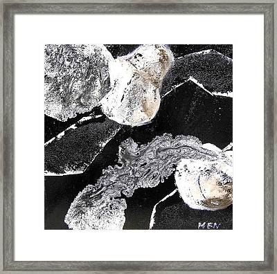 Fruits In Black And White Framed Print by Evguenia Men