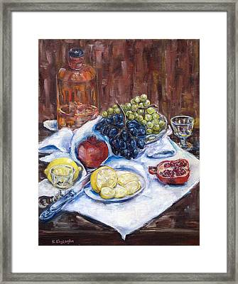 Fruits Framed Print by Natia Tsiklauri