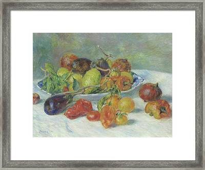Fruits Of The Midi Framed Print by Pierre Auguste Renoir