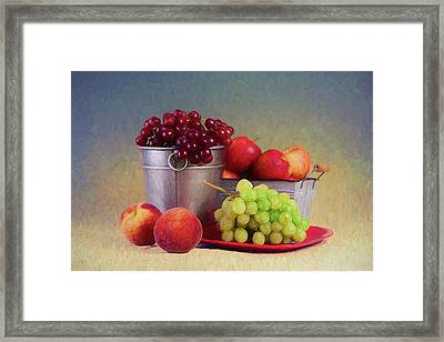 Fruits On Centerstage Framed Print