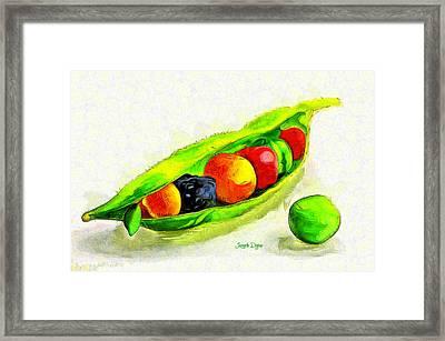 Fruits - Pa Framed Print by Leonardo Digenio