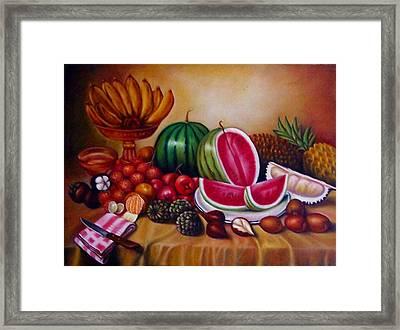Fruits Framed Print by Yuki Othsuka