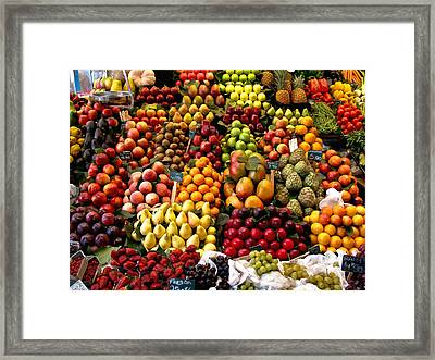 Fruitstand Framed Print
