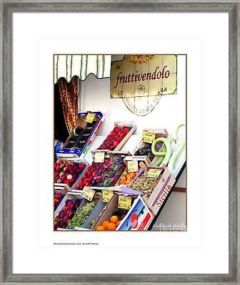 Fruittivendolo Framed Print