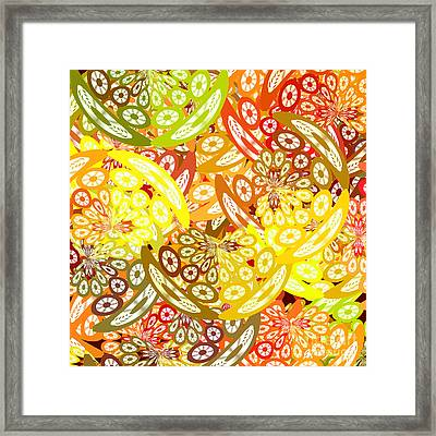 Fruity Geometric Abstract Framed Print by Gaspar Avila