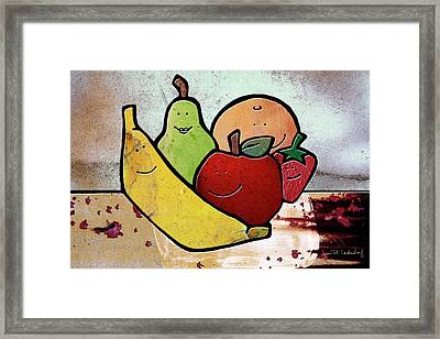 Fruity Framed Print by Joan Ladendorf