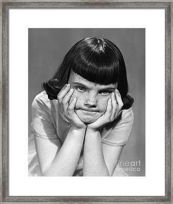 Frustrated Girl, C.1950s Framed Print by Debrocke/ClassicStock