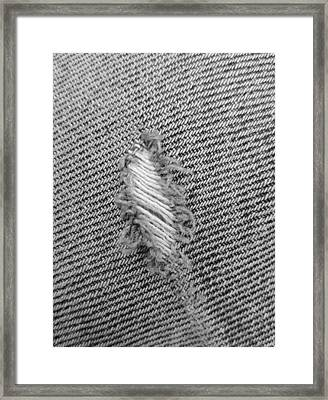 Fryed Jeans In B W Framed Print by Rob Hans