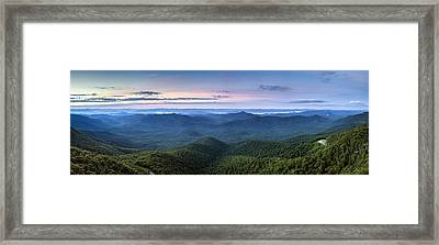 Frying Pan Mountain View Framed Print by Rob Travis