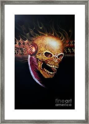 Fsu Flamming Skull Framed Print