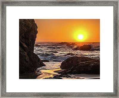 Ft Bragg Sunset Framed Print