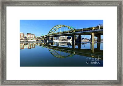 Ft. Duquesne Bridge, Pittsburgh, Pa Framed Print