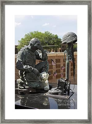 Ft. Hood War Memorial Framed Print by Linda Phelps