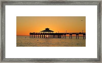 Ft. Myers Pier Framed Print