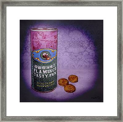 Ftf Can And Coins Framed Print
